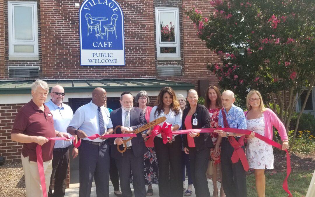 Ribbon cut on New Public Entrance to Milford Wellness Village Café